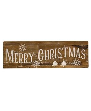 Picture of Merry Christmas Natural Wood Sign