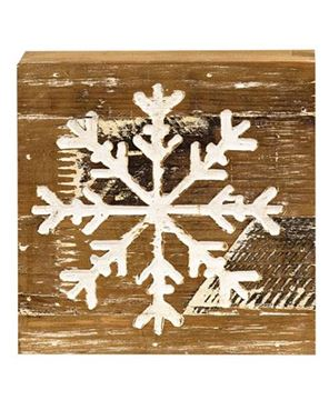 Picture of Snowflake Natural Wood Sign