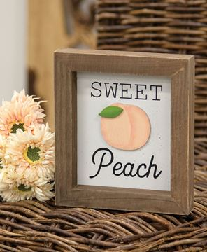 Picture of Sweet Peach Shadowbox Frame