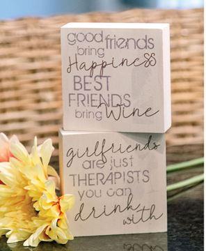 Picture of Best Friends Bring Wine Block, 2 Asstd.