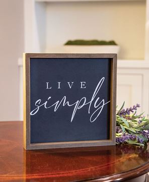 Picture of Live Simply Chalkboard Look Frame, 2 Asstd.