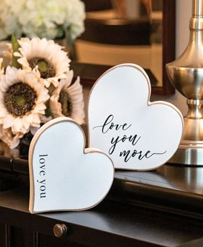Picture of Love You More Distressed Chunky Hearts, 2/Set