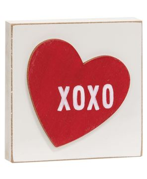 Picture of XOXO Heart Square Block