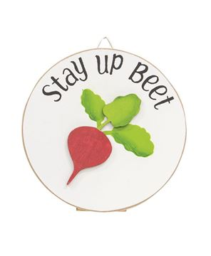 Picture of Spread Hap-pea-ness Mini Round Easel Sign, 2 Asstd.