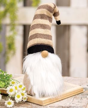 Picture of Cozy Gnome with Tan Striped Hat