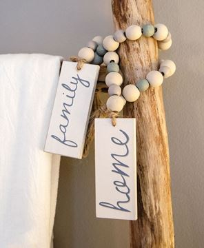 Picture of Home Beaded Tag Garland