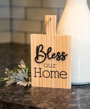 Picture of Bless Our Home Natural Cutting Board Ornament