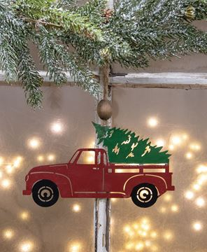 Picture of Christmas Truck Iron Ornament