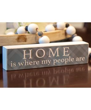 Picture of Home Is Where My People Are Plaid Block