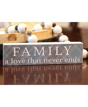 Picture of Family A Love That Never Ends Plaid Block
