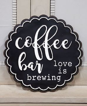 Picture of Coffee Bar Love Is Brewing Metal Sign
