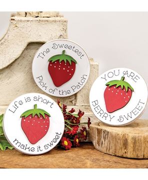 Picture of Life Is Short Mini Round Easel Sign, 3 Asstd.