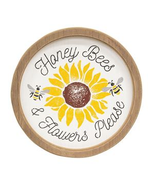 Picture of Honey Bees & Flowers Please Sunflower Circle Frame