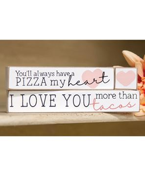 Picture of Pizza My Heart Blocks, 3/Set