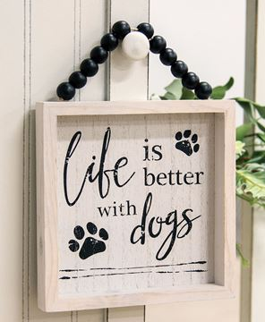 Picture of Life Is Better With Pets Beaded Sign, 2 Asstd.