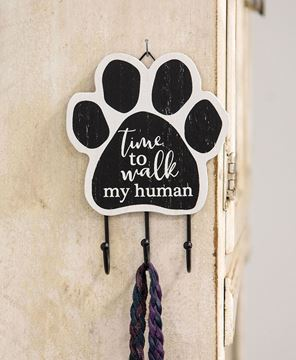 Picture of Paw Print Leash Hook, 2 Asstd.
