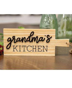 Picture of Grandma's Kitchen Natural Cutting Board Ornament