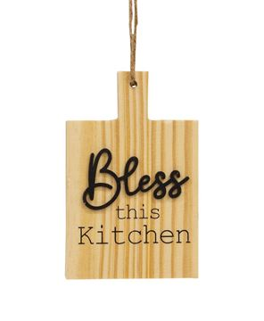 Picture of Bless This Kitchen Natural Cutting Board Ornament