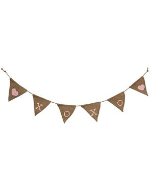 Picture of XOXO Burlap Pennant Garland