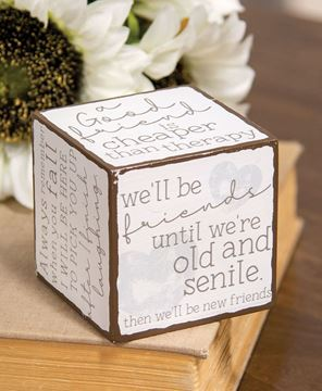 Picture of Best Friends Sayings Cube