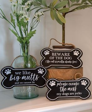 Picture of We Like Big Mutts Dog Bone Sign, 3 Asstd.