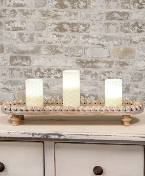 Picture of Beaded Edge Wooden Tray