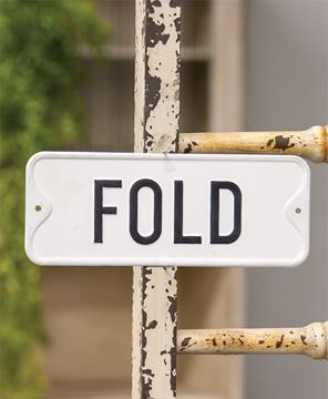 Picture of Fold Farmhouse Metal Sign