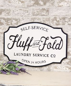 Picture of Fluff And Fold Laundry Co. Farmhouse Metal Sign