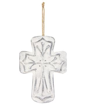 Picture of Distressed Metal Cross Ornament