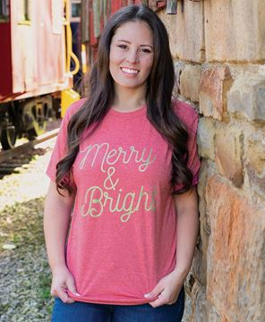 Picture of Merry & Bright T-Shirt, Red
