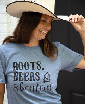Picture of Boots, Beers & Bonfires T-Shirt